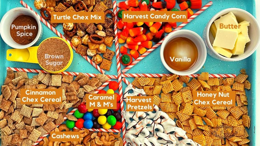 Pumpkin Spice Snack Mix Ingredients