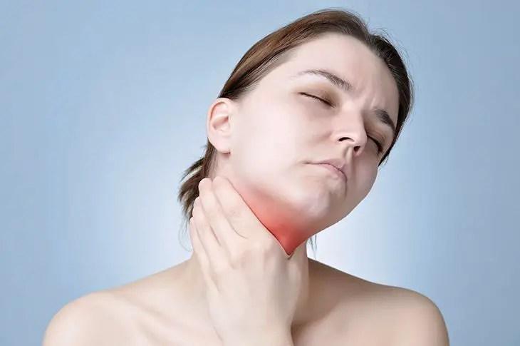 Decrease in thyroid levels