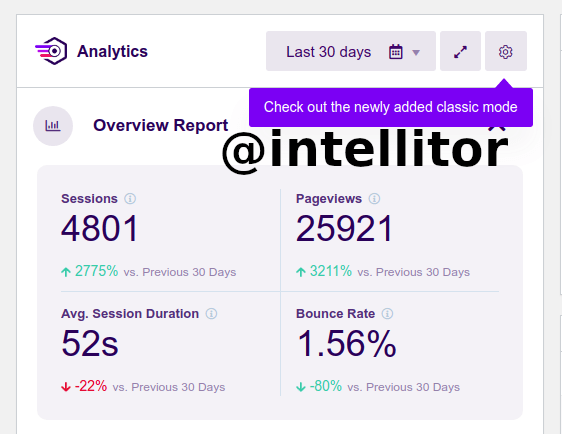 Traffic Count for one of our Clients at Intellitor
