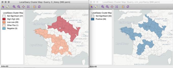 GeoDa Open Source GIS Software Screen Shot