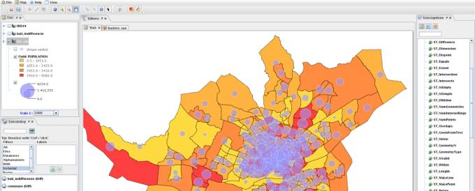 OrbisGIS open source mapping software screen shot