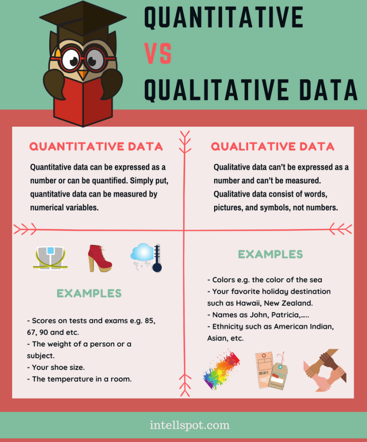 Qualitative and Quantitative Data - infographic and examples