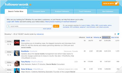 Followerwonk- a free social media research tool