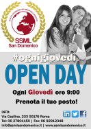 open day ogni giovedì