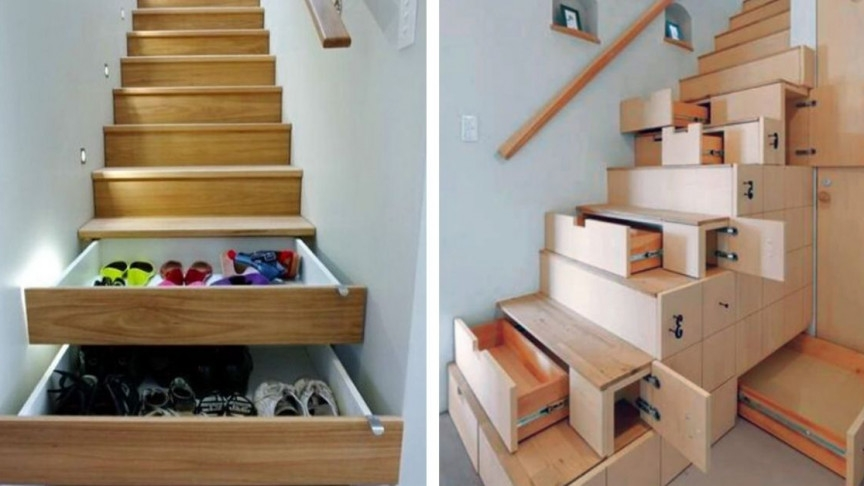 9 Super Space Saving Stair Designs To Make Your Staircase A Thing | Space Saving Stairs Design | Storage | Small Space | Cute | Low Cost | 2Nd Floor Small Terrace Concrete