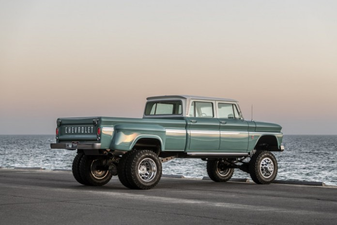 The Ponderosa: A Classic Chevy 1966 Pickup Truck Has Been Revamped and It's Striking