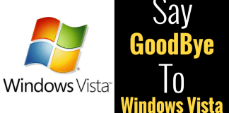 say goodbye to windows vista