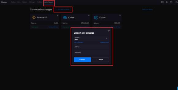 link kraken api key to bitsgap bot