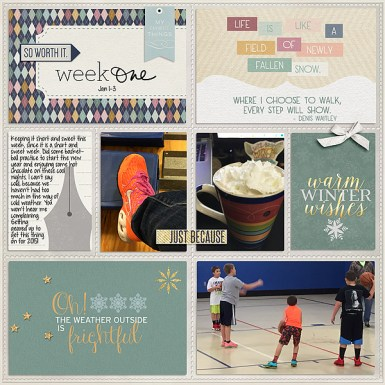 Winter Wish Collection by P&Co. Designers Pockets No 3 by Valorie Wibbens Weekly Edition Journaling Cards by One Little Bird