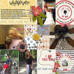 Messy Bun Kind of Day and matching Journal Cards from Etc by Danyale