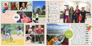 In Review Bundle by Sabrina's Creations My Life Templates 1 - 2017 by Scrapping With Liz