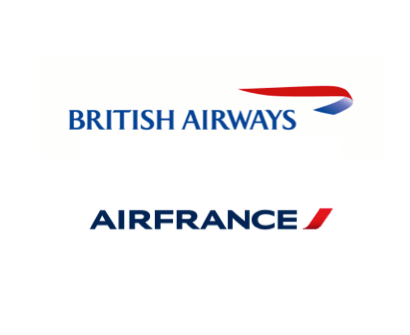 British Airways and Air France Logos