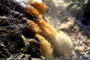 Rootbeer Falls at Jay Cooke State Park MN - by Andor