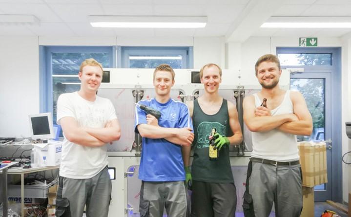 Nachhaltigkeit im Team. Teamfoto der Gründer von Intensovet.