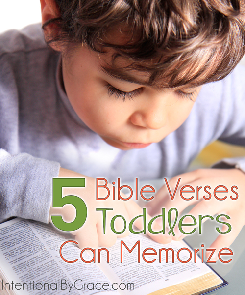 5 Bible Verses Toddlers Can Memorize - Intentional By Grace