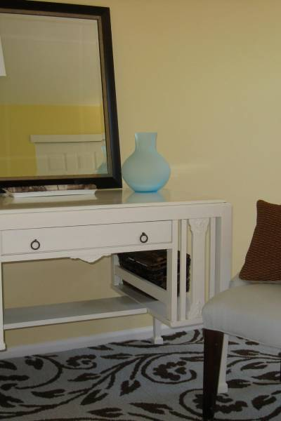 DIY Friday - Furniture Refinishing wood desk- After