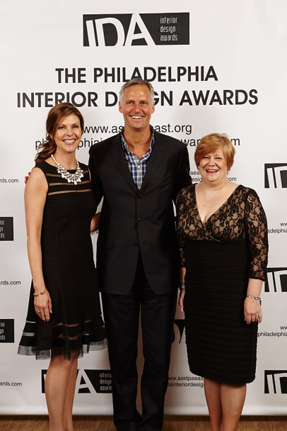 ASID PA East IDA's, Nancy Wildermuth Gala Chair, Randy Pfiser Executive VP ASID, Kaye Taylor Gala CoChair & Competition Chair