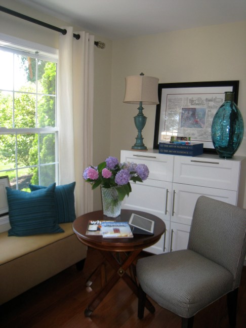 After Home Office. Paint Benjamin Moore Elephant Tusk OC-8
