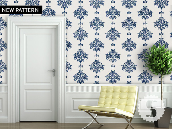 Temporary Wall Coverings from Swag Paper. Pictured ikat_halenay_grande