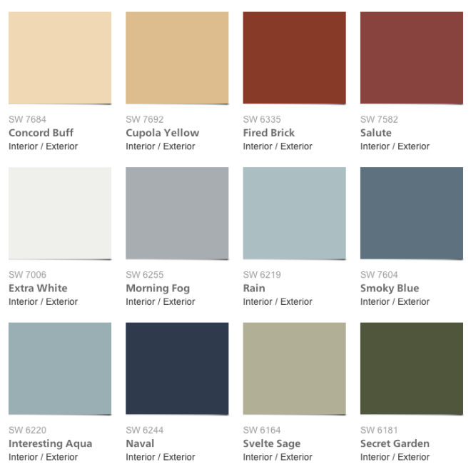 Pottery Barn Fall Collection: Sherwin-Williams & Pottery Barn Seasonal Color Palette