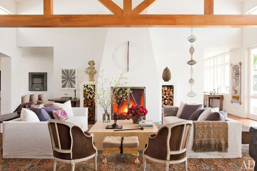 Architectural Digest, Photography by Roger Davies, Ellen Degeneres and Portia De Rossi, Beverly Hills Living Room