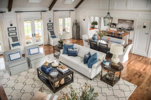 Open Concept Kitchens, Neutral + True White Paint Colors, HGTV 2015 Dream Home, Great Room/Dining/Kitchen