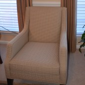 Upholstered Chair in Houndstooth