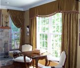 Formal Family Room, Intentional Designs Custom Window Treatments, Window Valance and Drapery Panels
