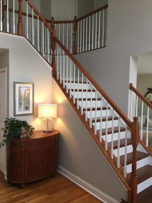 Before and After ... Foyer Staircase