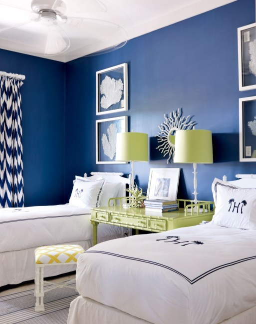 twin bedrooms, Spring Cleaning, Planning for your Fall Decorating, May's color of the month ... Blue