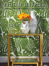 Phillip Jeffries Wallcoverings   Jack's Jungle 5336 shown in Palm on /white Paperweave