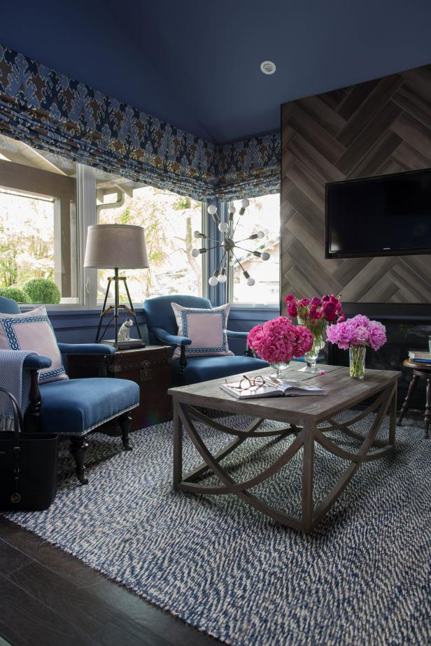 Living Room Urban Oasis 2015, Sherwin-Williams 6536 Searching Blue