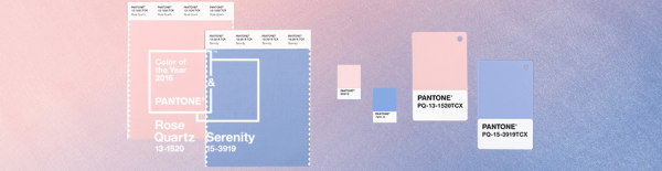 Pantone Color(s) of the Year 2016.  Rose Quartz and Serenity