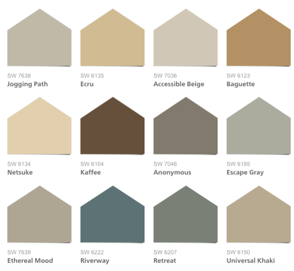2016 hgtv smart home paint colors for Neutral paint palette for house