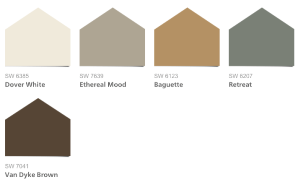 Exterior Colors, 2016 HGTV Smart Home Paint Colors, Sherwin-Williams Neutral Nuance HGTV Home Collection