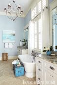 freestanding tub, paint color, design plan, blue, Top 5 shades of blue paint colors for your home