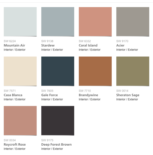 20167 Paint Colors, Sherwin-Williams 2017 Colormix Collection Holistic