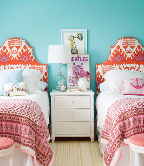 wall decor, twin bedrooms, kids bedrooms, fabric mixologist