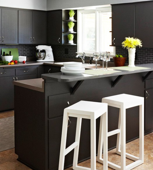 2017 matte black color is trending for home interiors for Better homes and gardens painting kitchen cabinets