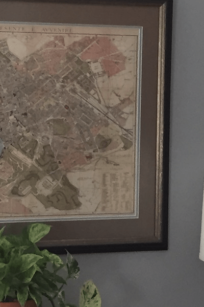 For the love of maps! 3 creative ways to use maps as wall art.