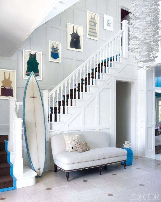 staircase, staircases, foyer, summer decorating ideas