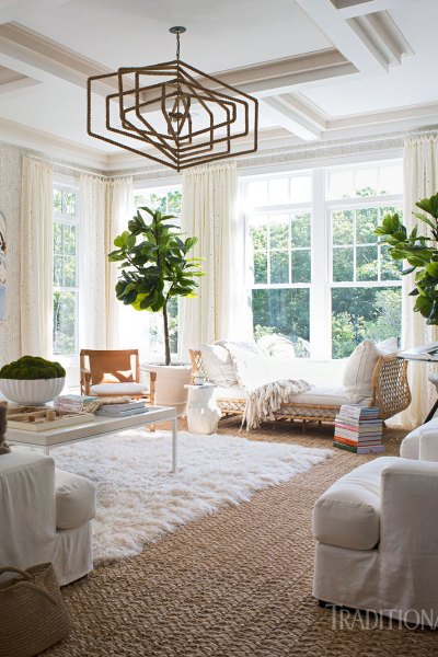 Boho Design Hamptons Style, Home 2016 Hampton Designer Showhouse, Boho Living Room