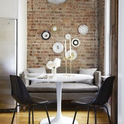 breakfast nook, accent wall options
