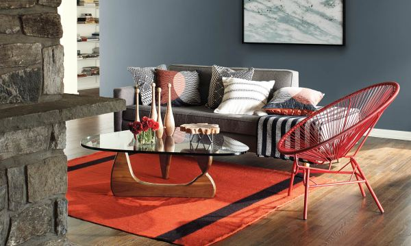 2018 Decorating Trends, Benjamin Moore, Wolf Gray 2127-40, White Opulence OC-69