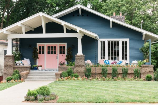HGTV Urban Oasis 2017 Paint Colors, Front Exterior, curb appeal