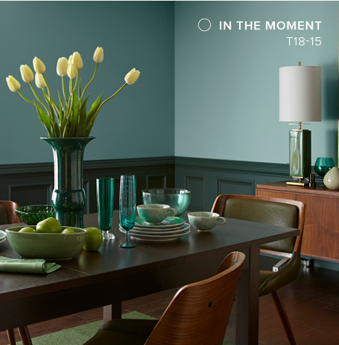 Behr 2018 Paint Color of the Year, In The Moment, Dining Room