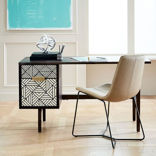 bone inlaid desk, 2018 pinterest trend