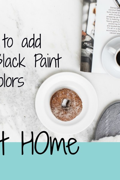 6 Ways to add Black Paint @ Home
