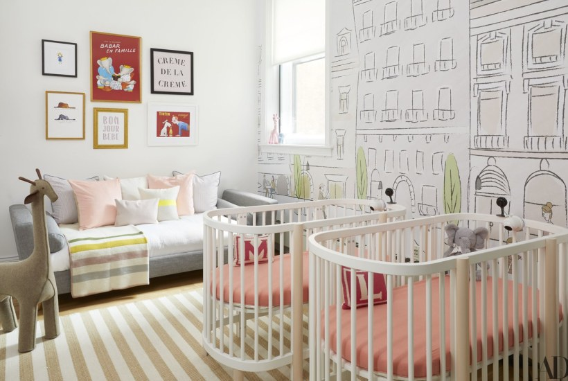 nursery, art, area rug, wall paper