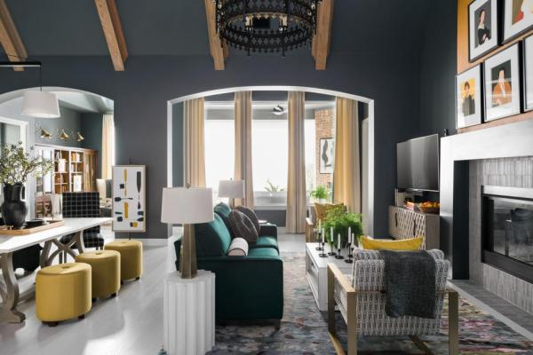 HGTV Smart Home 2019, Great Room, Sherwin-Williams Web Gray